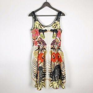 Corly Sleeveless Animal Floral Print Dress Sz 6